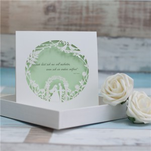 Newlyweds Wedding Invitation Card lasered