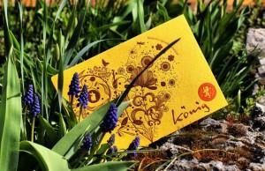 Easter Card King Concept Letterpress